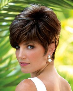 Jax PM by Noriko is a chic short multi layered style with full angled side swept bangs. Free Shipping in the US. Our Price: $212.00