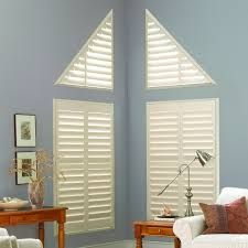 Image Result For Window Coverings Odd Shaped Windows Hunter Douglas Shutters Interior