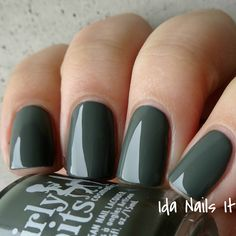 Ida Nails It: Girly Bits Hocus Pocus Collection: Swatches and Review. Goodbye-bye is an army green creme that is nearly a one coater. Smooth and creamy.  Available at www.girlybitscosmetics.com