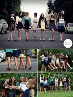 cute photo ideas for brides maids & bride im doing something similar cause my heel ideas