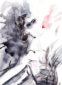 Black Swan by Michelle Pegrume Black Swan Movie, White Swan, Cool Art, Awesome Art, New Art, Fantasy Art, Illustration Art, Illustrations, Art Drawings
