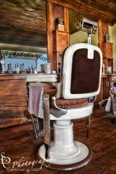 H J Barber Shop Vintage Photo