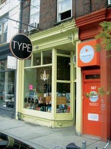 Type Bookstore in Toronto
