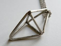 Silver Prism Necklace by HeroKing on Etsy, $78.00