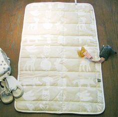 Hand screen printed  changing mat, Oeko tex cotton, nordic design