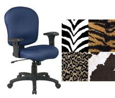 Ordinaire Office Star SC66 Zebra Animal Print Adjustable Office Desk Chairs With Adj.  Arms