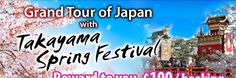 Grand Tour with Takayama Festival  - Additional Departure Now Confirmed     *** Additional Departure confirmed due to high demand *** This tour includes continuous 2 nights in Osaka for your comfort Enjoy traditional Japanese Ryokan and Strawberry Picking in Nagano  Grand Tour of Japan with Takayama festival provides a remarkably diverse tour at an aordable price: the perfect trip for anyone wanting to see the best of Japan's urban and rural extremes. call 828-475-6227