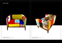 Patchwork 11/2 seater