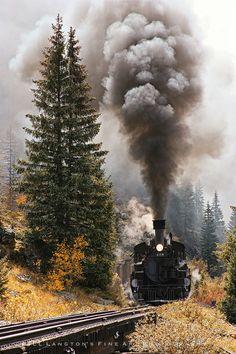 Here Comes the Train - Durango - Silverton, Colorado...