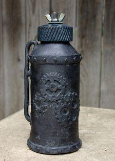 Ceramic Steampunk canister