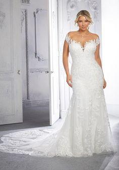 Plus Size Wedding Dresses: Julietta Collection | Morilee Plus Size Wedding Gowns, Plus Size Gowns, Bridal Wedding Dresses, Lace Ball Gowns, Tulle Ball Gown, Ball Gown Dresses, Vestidos Plus Size, Fit And Flare Wedding Dress, Mermaid Dresses