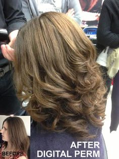 Digital Perm London: Redcarpet curls every day. ColourNation Digital Perm specialists 10 years Japanese System Expertise. FREE consultation click or call.