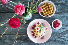 Cheesecake-Waffeln Low Carb einfach und ohne Eiweißpulver. Für alle die auf Zucker und Weißmehl verzichten wollen, aber nicht auf den Genuss!