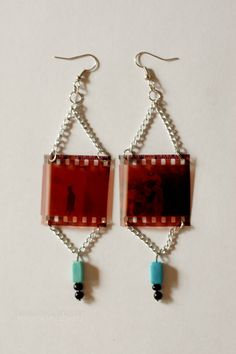 Customized film negative earrings! So cool! Sewell Road Jewelry on Etsy
