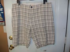 J Crew Plaid Chino Shorts Size 36 Men's EUC #JCrew #KhakisChinos