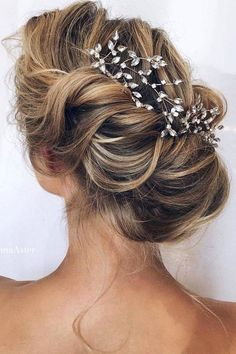 wedding updo hairstyles via ulyana aster