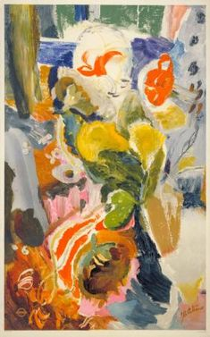 Flowers by Ivon Hitchens, 1951 Art Pop, Tea Bag Art, Still Life Art, Abstract Flowers, Graphic Design Illustration, Abstract Expressionism, Love Art, Art Images, Sculpture Art