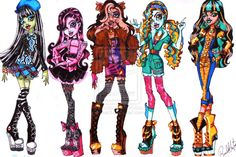 "Back to School Part 1 by Rsac3 on deviantART: ""Inspired by the Barbie Fashion Fever series. This would be part of the basic lines, including brand new diaries and accesories."""