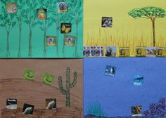 Make your own habitats for your animal stickers and learn while you ...