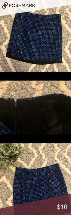 J.Crew Plaid Skirt- size 2 J. Crew plaid skirt only worn once. Size 2 but runs a little big J. Crew Skirts Mini