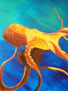 Octopus Painting | Ocean Art and Paintings-Beautiful fine art ocean paintings and ocean ...
