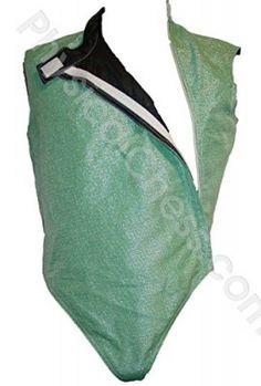 Fencing Foil Conductive Lame Vest Women's Green Color