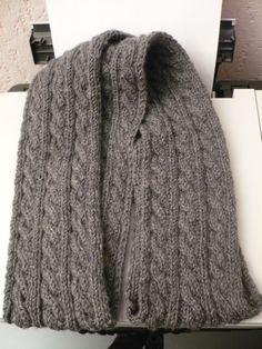 modele tricot echarpe homme torsade