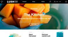 LUSH Cosmetics / https://www.lush.co.uk / Lifestyle, Kitchen, Magazine #webdesign