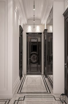 Interior Design,Architecture,Visual Effects Lobby Interior, Luxury Homes Interior, Luxury Apartments, Home Interior Design, Floor Design, Ceiling Design, House Design, Tiled Hallway, Art Deco
