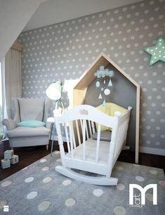 Projekt pokoju niemowlaka - Mały pokój dziecka dla chłopca dla dziewczynki dla niemowlaka, styl nowoczesny - zdjęcie od Mart-Design Architektura Wnętrz