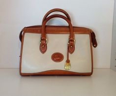 Vintage Dooney and Bourke Leather Satchel With Strap on Etsy, $64.00