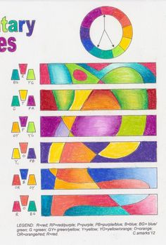 Precious Worker: Challenge and colour schemes Art Doodle, 7 Arts, Art Handouts, 8th Grade Art, Art Worksheets, Ecole Art, Art Curriculum, Principles Of Art, School Art Projects