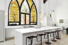 Church Conversion into a Residence by Linc Thelen Design |
