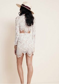 White Lace Shirt and Mini Skirt Outfit $24.99 https://www.maxfancy.com/dresses/Maxi-and-Skater-Skirt-Outfits/white-lace-shirt-and-mini-skirt-set-mfyym8009