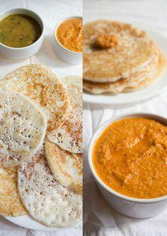 poha-dosa+ sesame-coconut-chutney FROM Veg Recipes of India