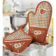 Autumn Potholder & Oven Mitt