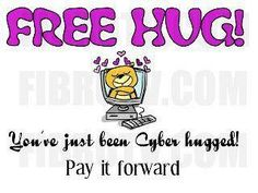 Big hug for my Pinterest, Facebook, and Twitter friends.