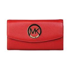 Michael Kors Logo Large Red Wallets