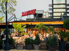 Terraza Martinez Restaurant - Authentic Sangria and fresh local seafood.  Great views of Barcelona.  9 Best Places to Visit in Barcelona - Condé Nast Traveler