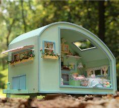 Wooden Dollhouse Miniature DIY House Model DIY kit Little RVS Display ---RVS US $70.00
