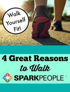 Health and Fitness Benefits of Walking. This is SO encouraging! | via @SparkPeople #walk #workout