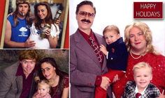 Couple poses for brilliantly-awkward Christmas cards #DailyMail | These are some of the stories. See the rest @ http://twodaysnewstand.weebly.com/mail-onlinecom or Video's @ http://www.dailymail.co.uk/video/index.html