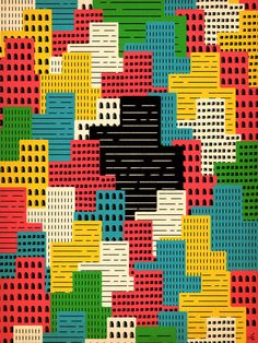 Ok not printed textiles or a pattern but it would make a nice fabric print so in it goes... Buildingburgh Art Print by Sweden10