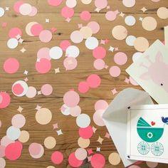 Confetti rond Roze