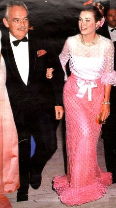 Grace & Family:  Princess Grace and Prince Rainier of Monaco. Red Cross Ball. August 1970.