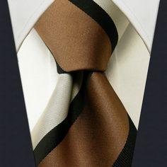 Brown Stripe Necktie