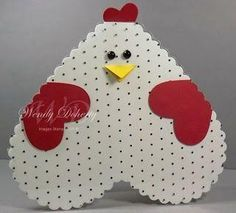 Oh man. A chicken made of hearts. Super adorable.