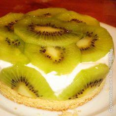 Torta apaixonante de kiwi