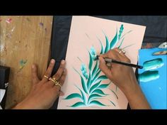 One stroke painting for beginners.One stroke painting techniques. Roses painting. - YouTube