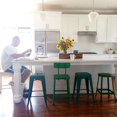 meg duerksen's white kitchen